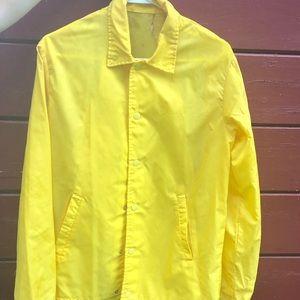 Yellow raincoat vintage